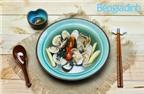 Món nấu nhanh: Nghêu hấp lá lốt