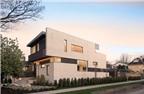 Ngôi nhà hiện đại với mặt tiền gạch trắng ở Canada