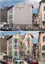 Bằng vài nét vẽ chung cư xấu xí hóa thành nhà đẹp