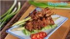 Món nấu nhanh: Thịt ba chỉnướng sốt mè thơm lựng