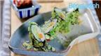 Món chay: Sushi cốm xanh chả lụa chay