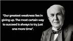 Học tiếng Anh qua những câu nói bất hủ của Thomas A. Edison