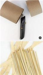 Cách làm giỏ đựng đồ bằng giấy cực xinh xắn cho dịp Tết