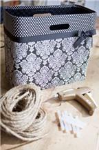 Cách làm giỏ hoa lãng mạn bằng dây thừng và túi giấy