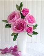 Ngắm nghía các loại hoa bằng giấy nhún tuyệt đẹp