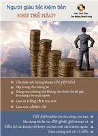 Người giàu tiết kiệm tiền như thế nào?