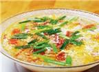 Canh trứng cà chua - Món ăn tốt cho tim mạch