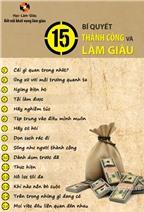 15 bí quyết thành công và làm giàu (Phần 1)