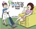 Cách 'nịnh' chồng làm việc nhà