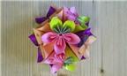 Cách làm quả cầu hoa bằng giấy Origami tuyệt đẹp