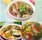 3 món canh chua ngon với ngao, cá, sườn